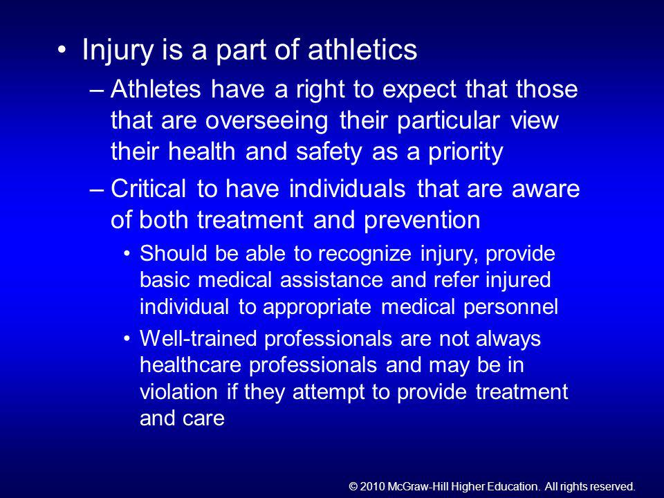 Injury is a part of athletics