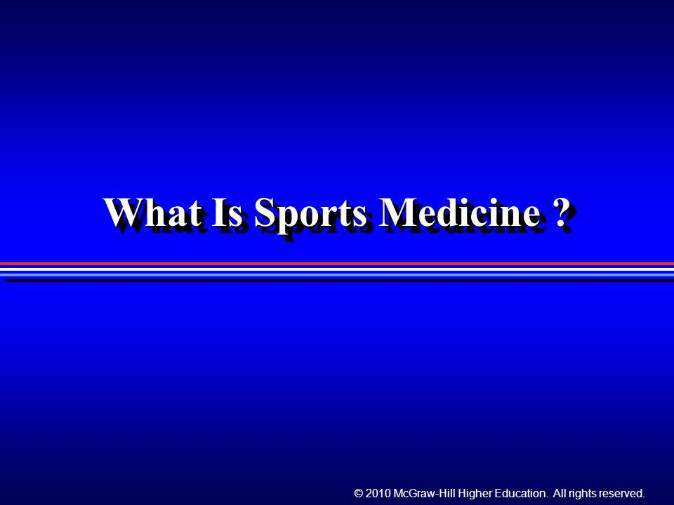 What Is Sports Medicine