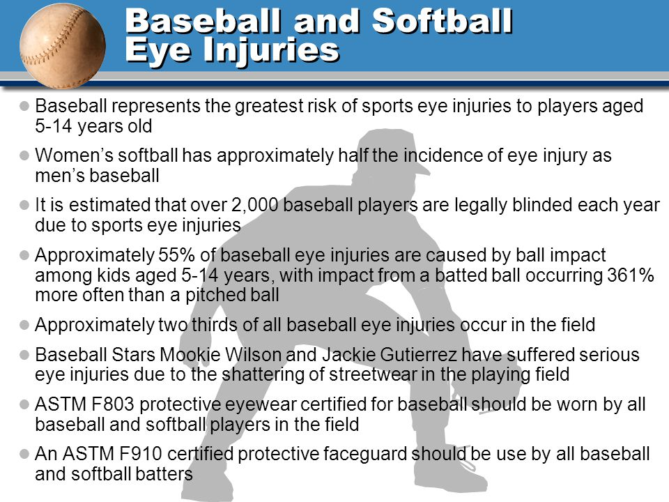 Baseball and Softball Eye Injuries