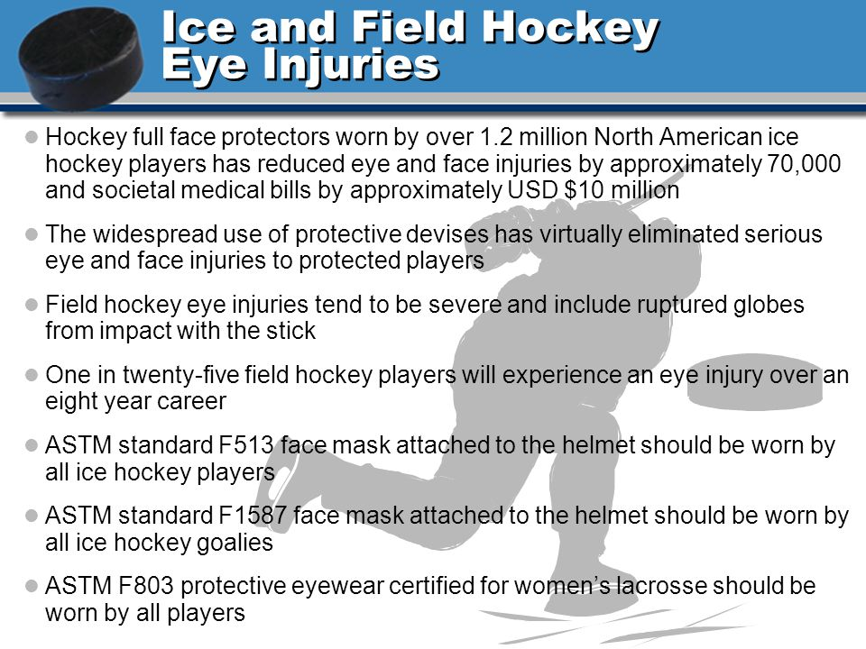 Ice and Field Hockey Eye Injuries