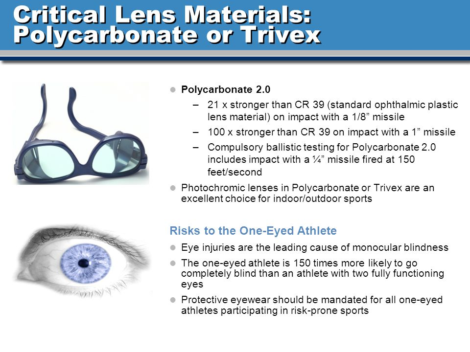 Critical Lens Materials: Polycarbonate or Trivex
