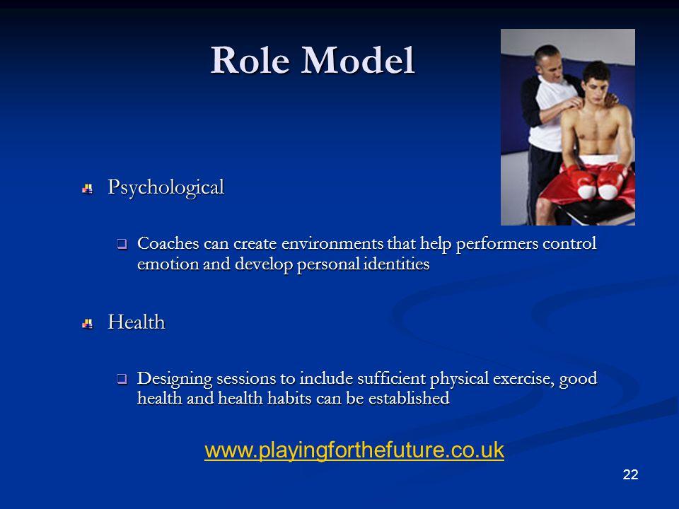 Role Model Psychological Health www.playingforthefuture.co.uk