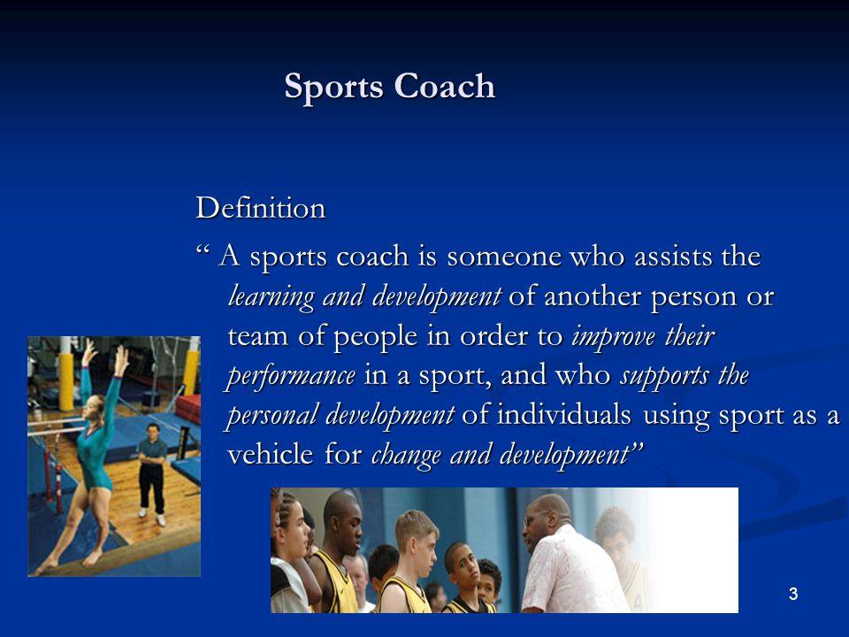 Sports Coach Definition
