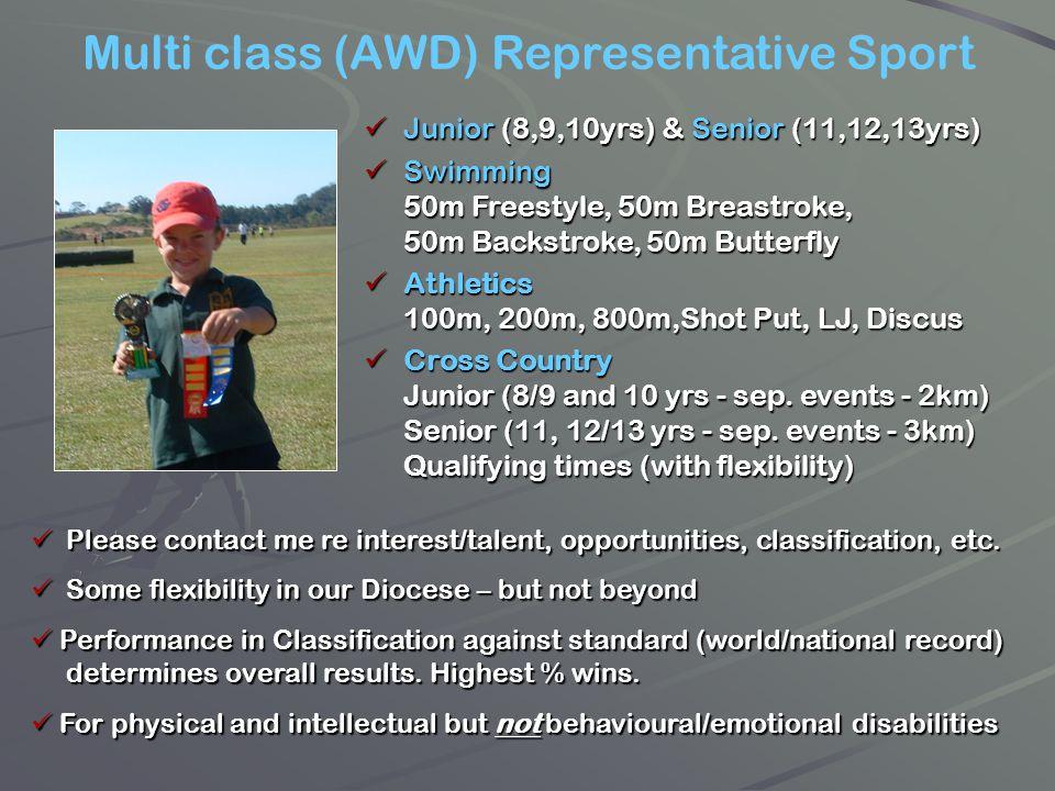 Multi class (AWD) Representative Sport