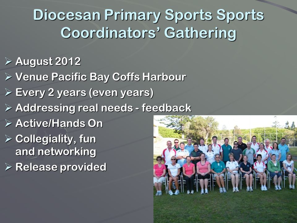 Diocesan Primary Sports Sports Coordinators' Gathering