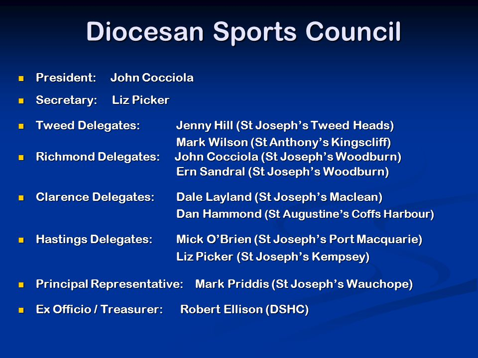Diocesan Sports Council