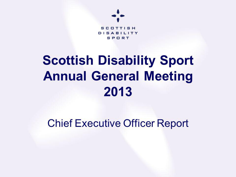 Scottish Disability Sport Annual General Meeting 2013