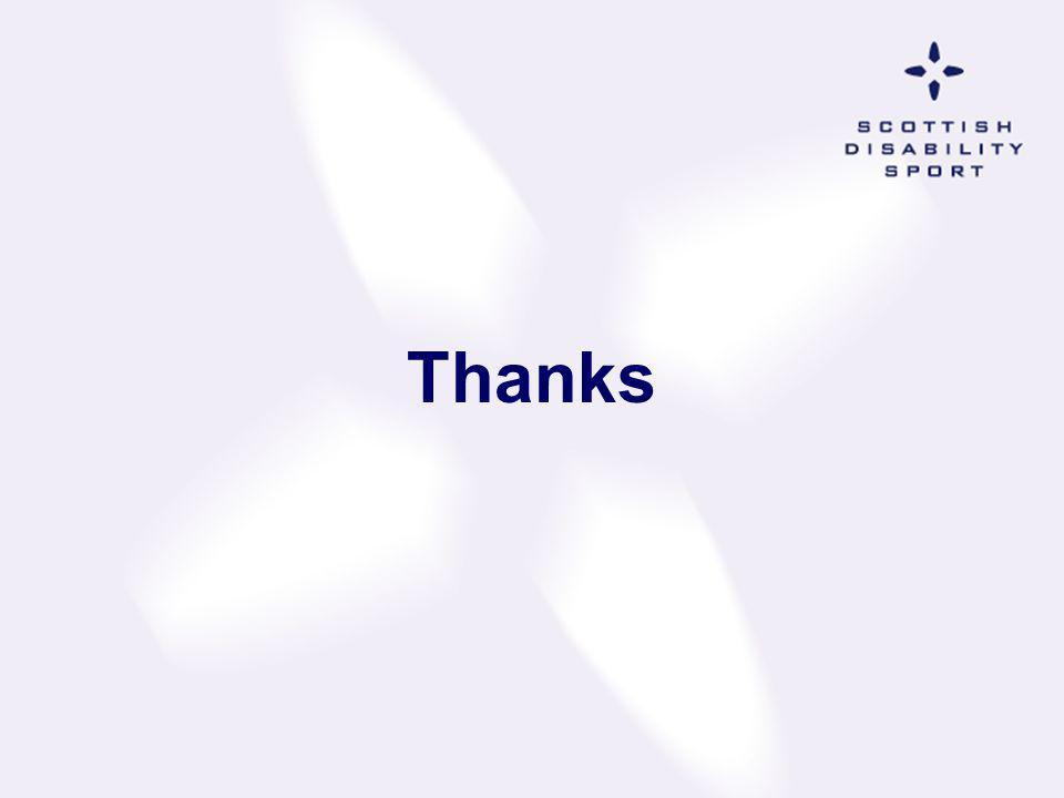 Thanks SDS Management Board & Gordon McCormack OBE