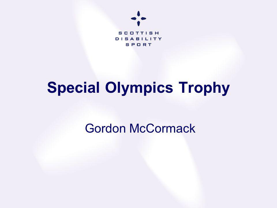Special Olympics Trophy