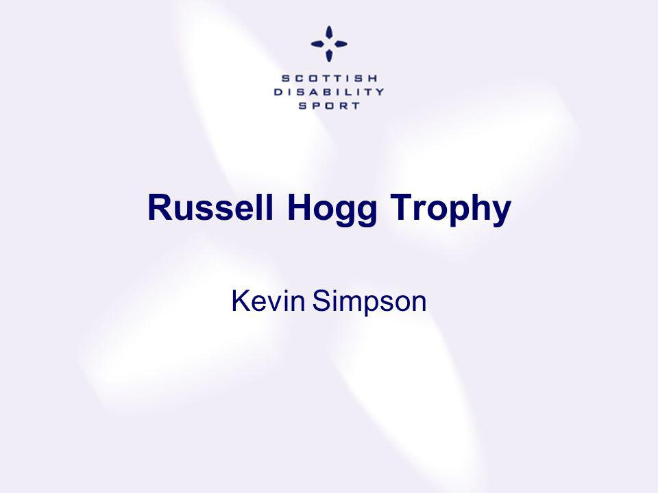 Russell Hogg Trophy Kevin Simpson