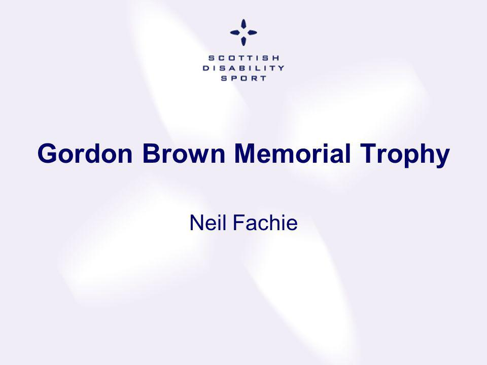 Gordon Brown Memorial Trophy