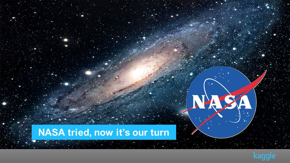 NASA tried, now it's our turn