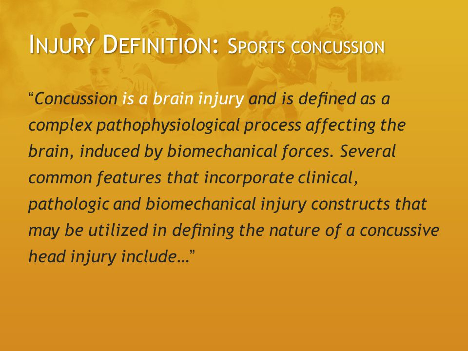 Injury Definition: Sports concussion