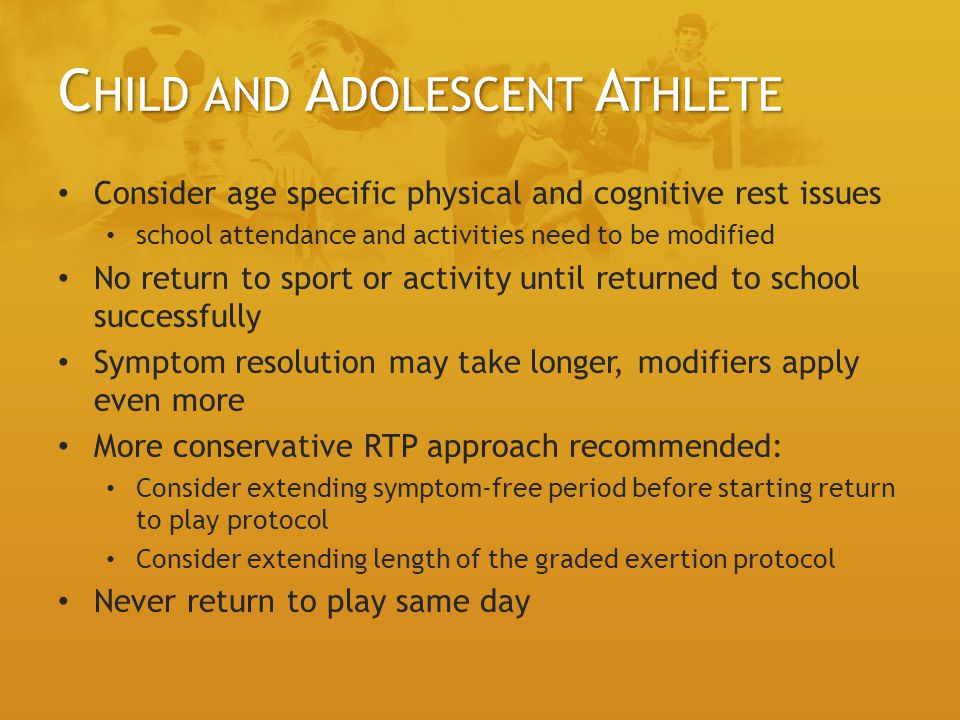 Child and Adolescent Athlete