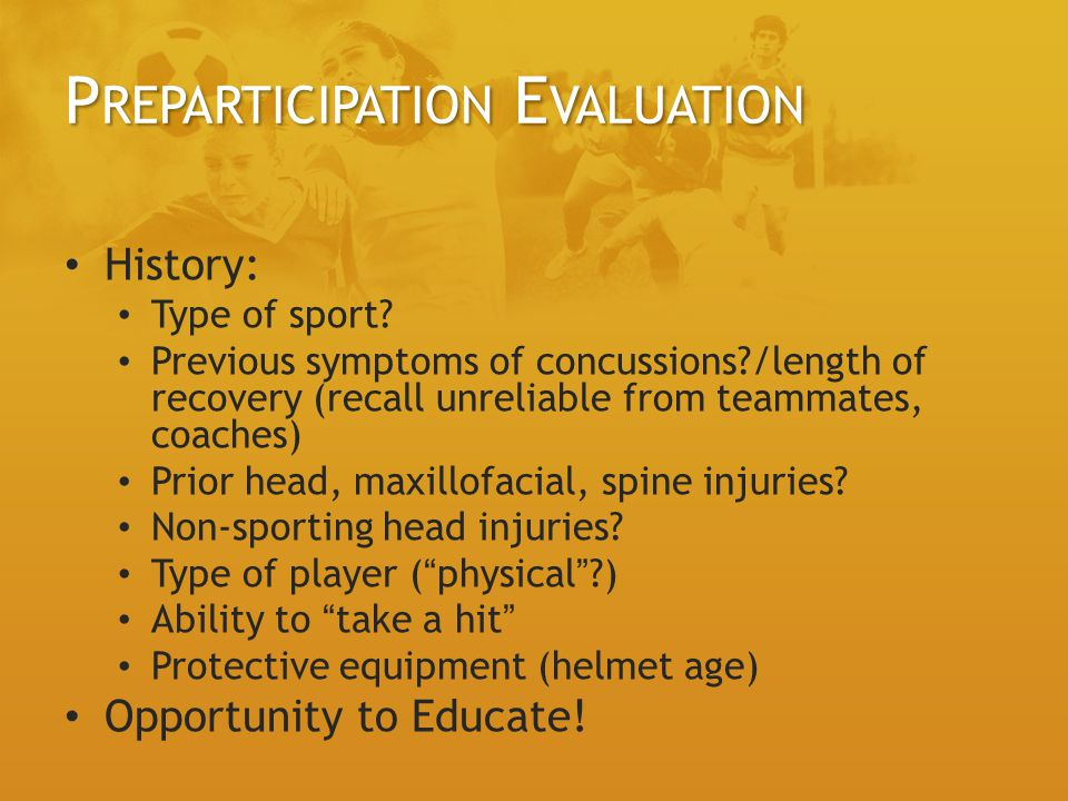 Preparticipation Evaluation