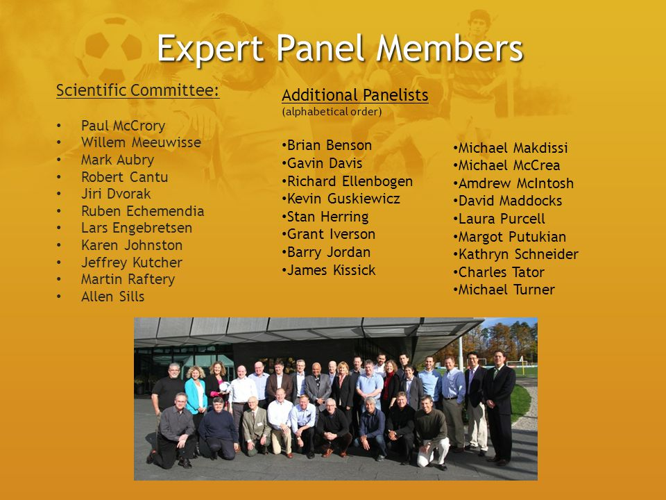 Expert Panel Members Scientific Committee: