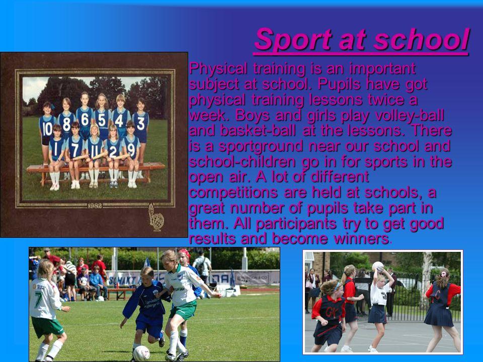 Sport at school