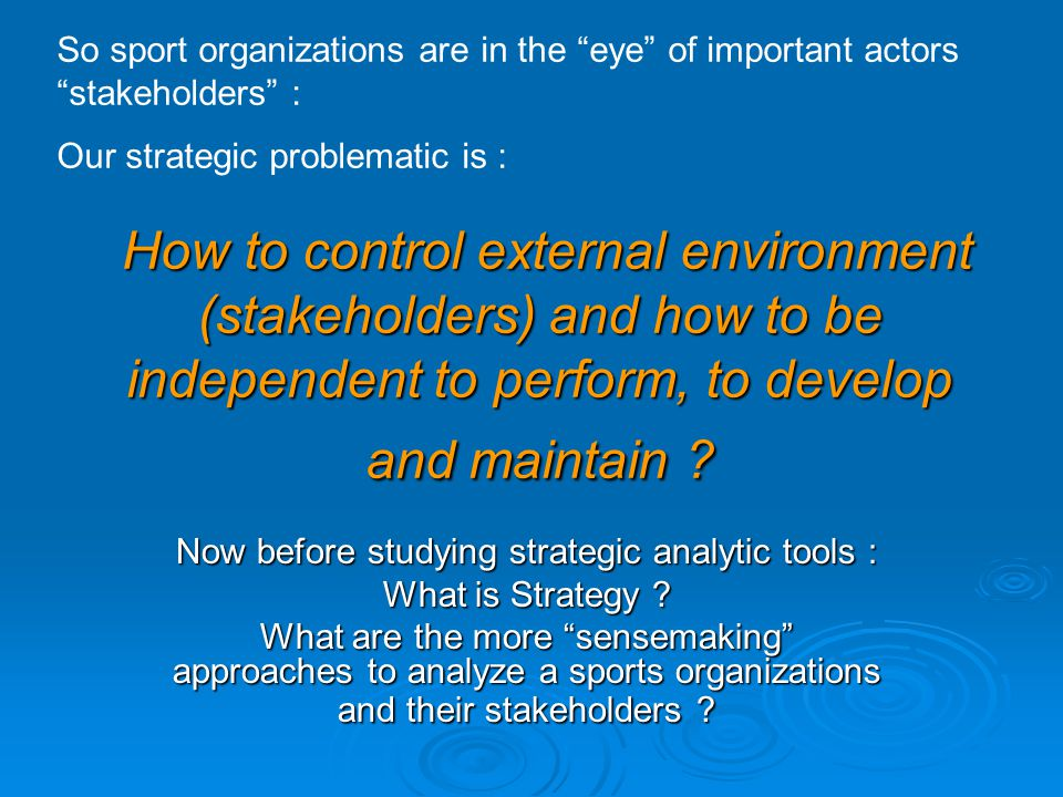 Now before studying strategic analytic tools :
