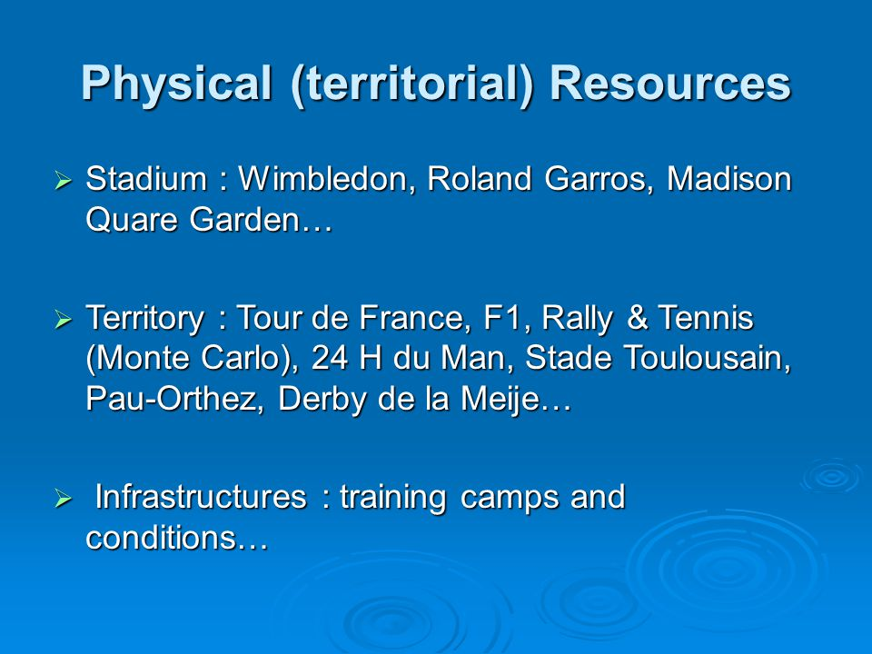 Physical (territorial) Resources