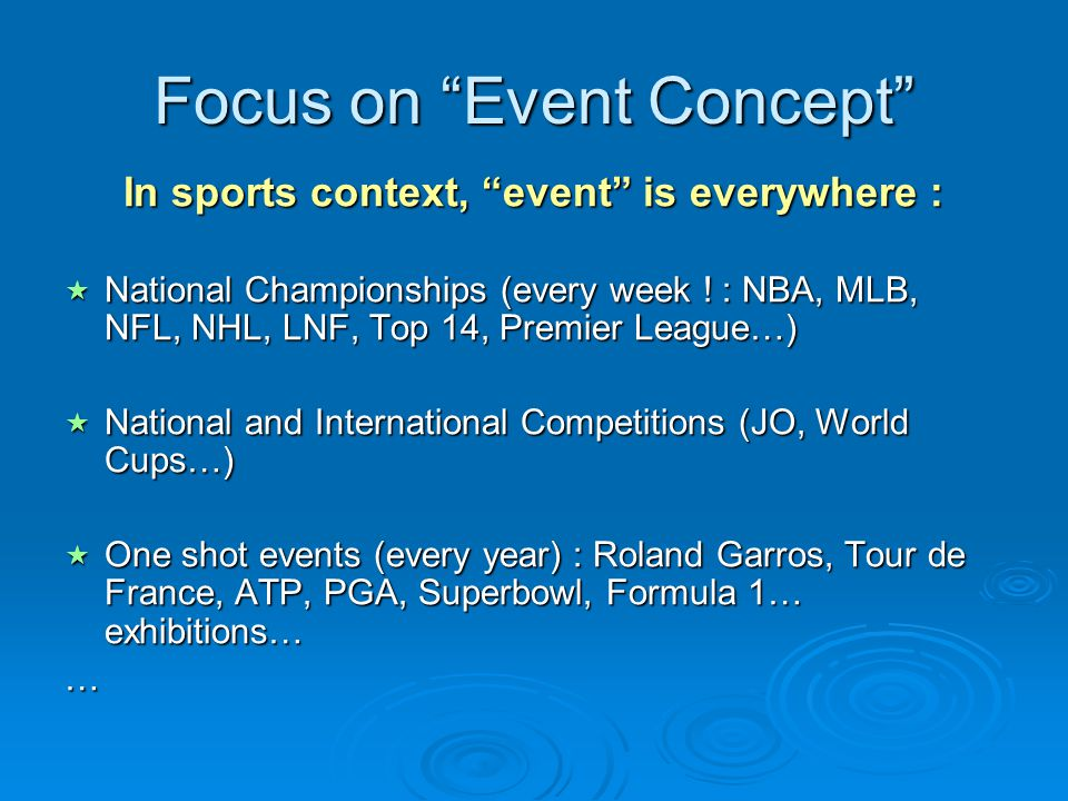 Focus on Event Concept