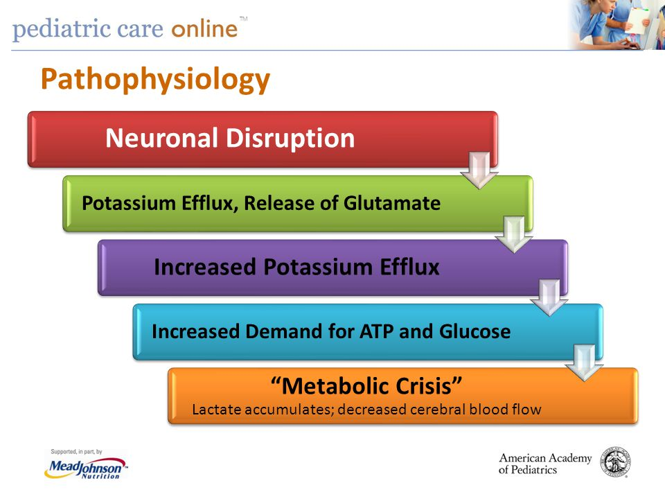 Pathophysiology Neuronal Disruption Increased Potassium Efflux