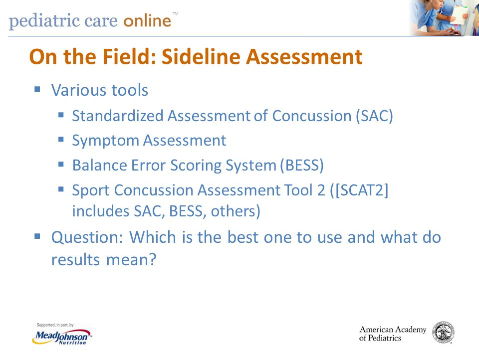 On the Field: Sideline Assessment