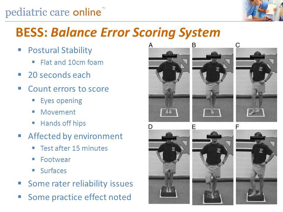 BESS: Balance Error Scoring System