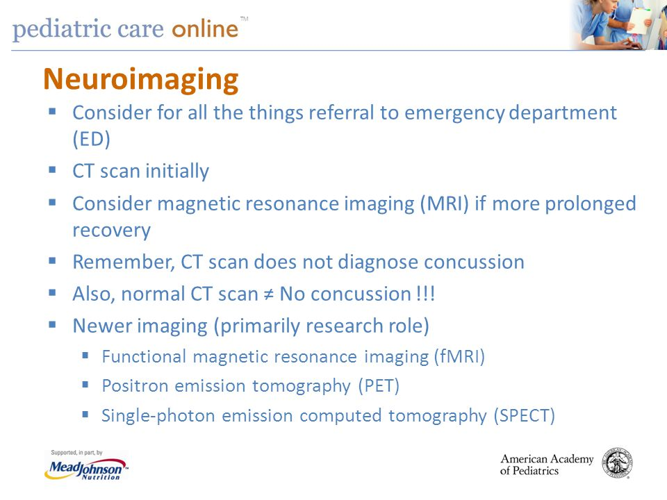Neuroimaging Consider for all the things referral to emergency department (ED) CT scan initially.