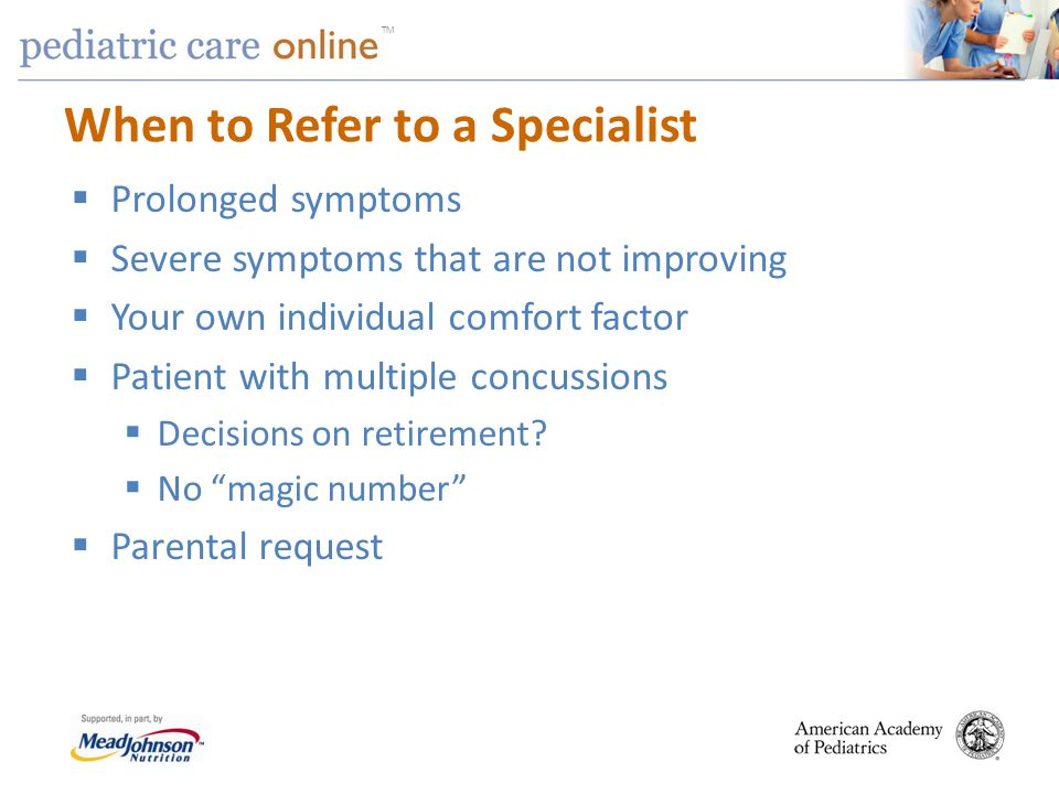 When to Refer to a Specialist
