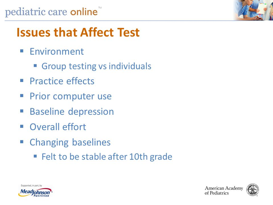 Issues that Affect Test