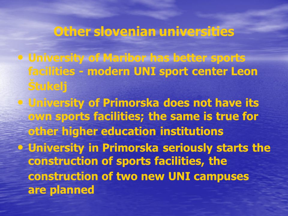 Other slovenian universities