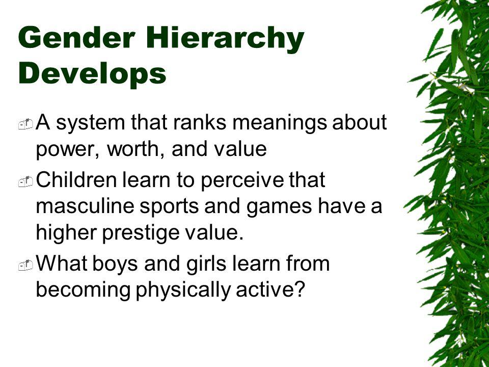 Gender Hierarchy Develops