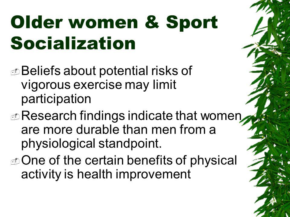 Older women & Sport Socialization