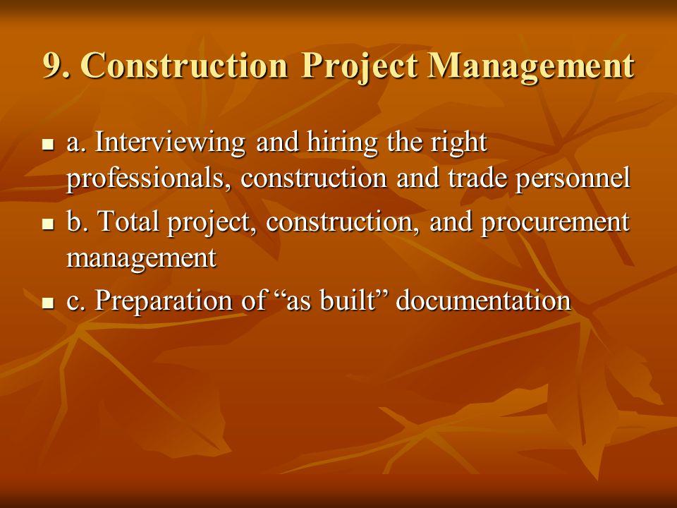 9. Construction Project Management