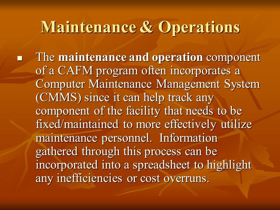 Maintenance & Operations