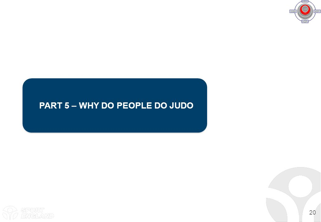 PART 5 – WHY DO PEOPLE DO JUDO