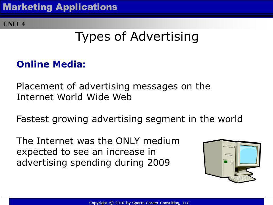 Types of Advertising Marketing Applications Online Media: