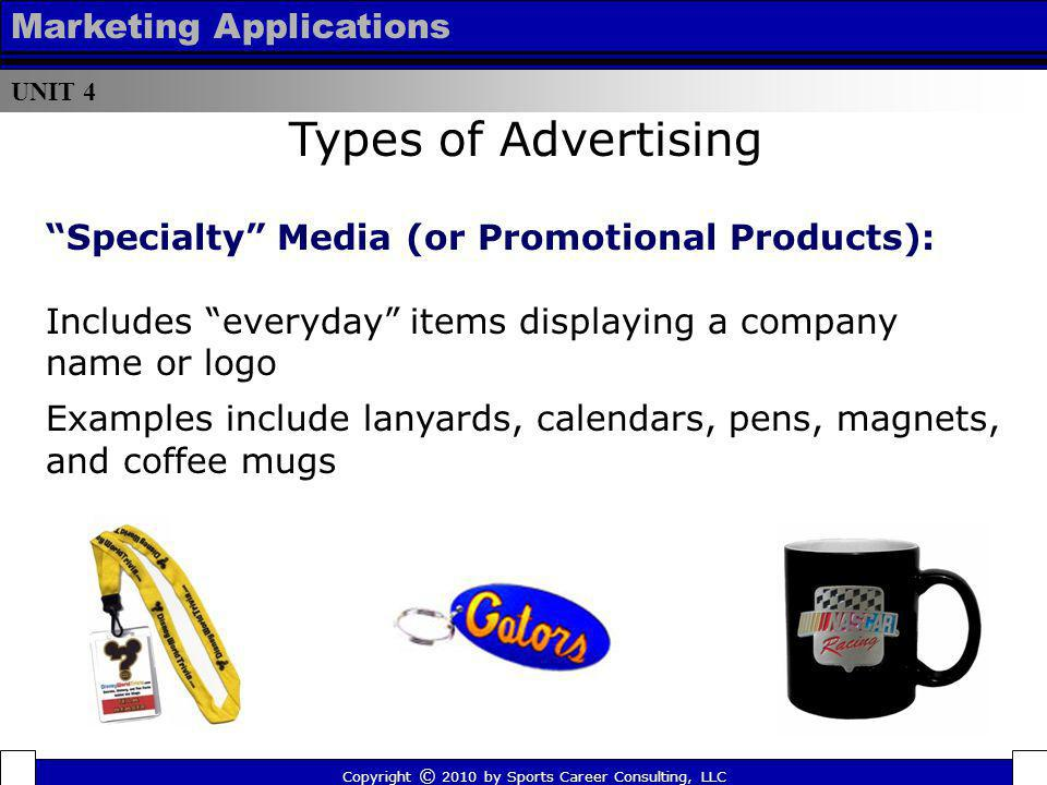 Types of Advertising Marketing Applications