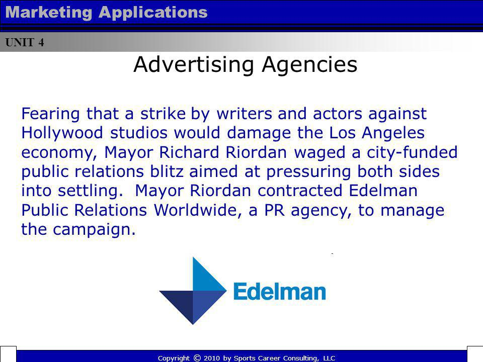 Advertising Agencies Marketing Applications