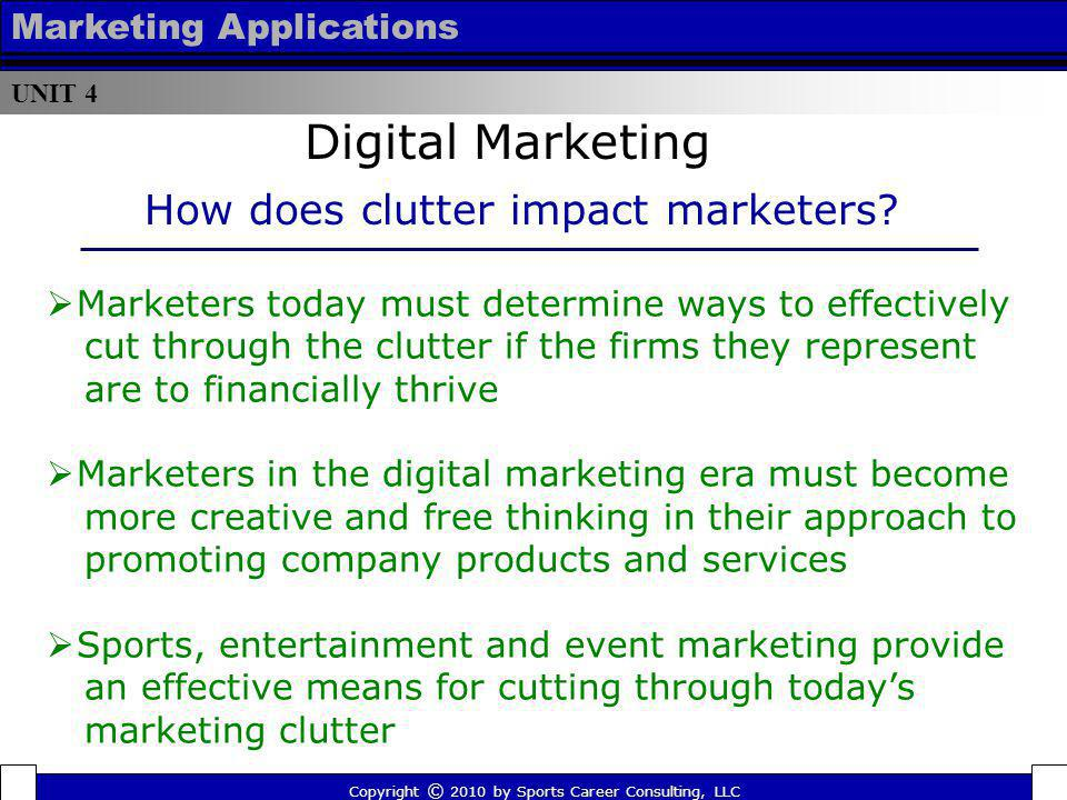 Digital Marketing How does clutter impact marketers