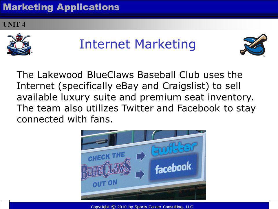 Internet Marketing Marketing Applications
