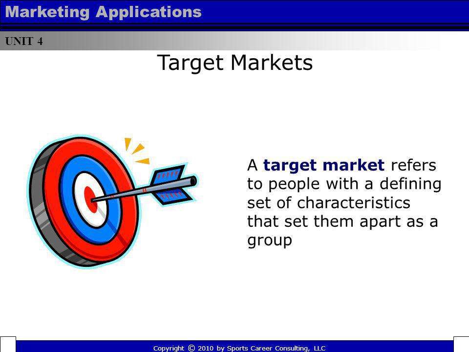 Target Markets Marketing Applications