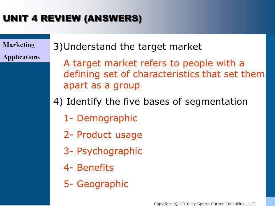 Understand the target market