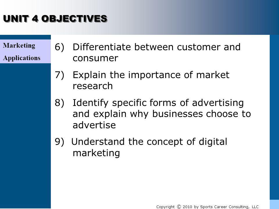 6) Differentiate between customer and consumer