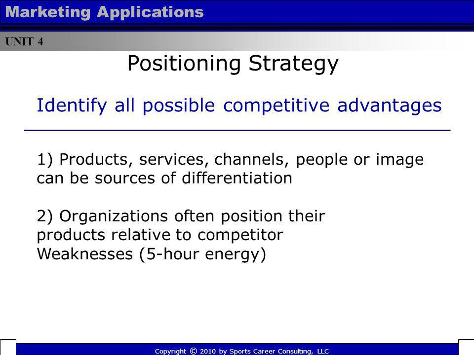 Identify all possible competitive advantages