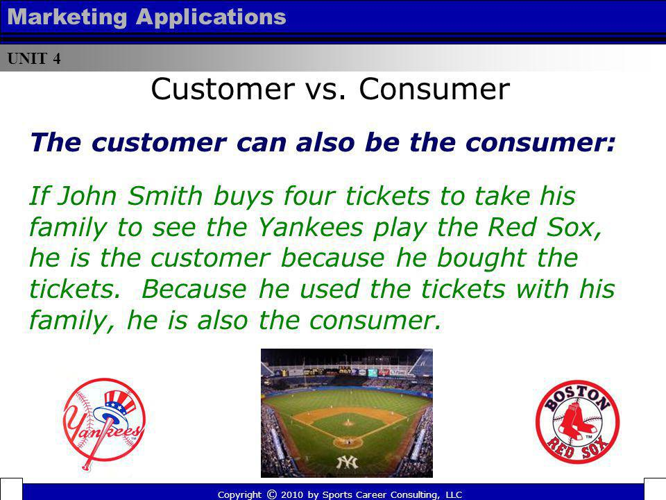 Customer vs. Consumer The customer can also be the consumer:
