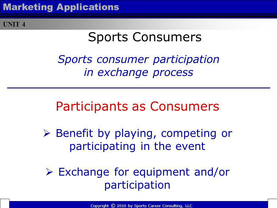 Participants as Consumers
