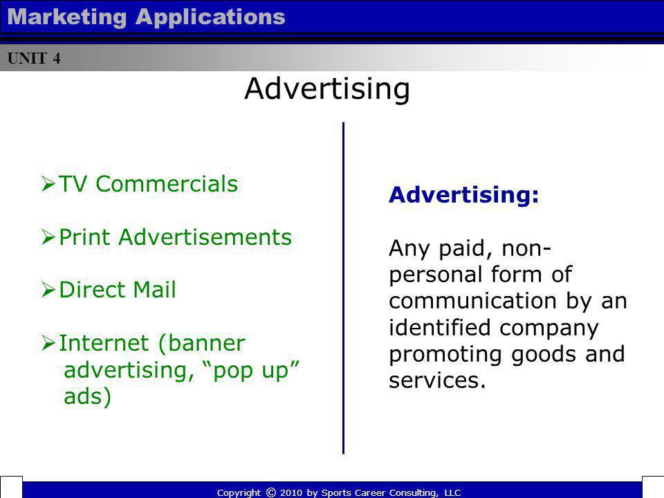Advertising Marketing Applications TV Commercials Advertising: