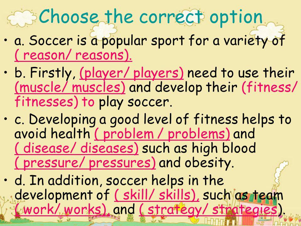 Choose the correct option