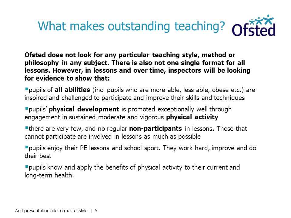 What makes outstanding teaching